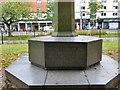 SJ8495 : World War Two inscription on World War One Memorial by Gerald England