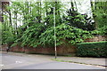 SK5703 : Brick wall beside Westcotes Drive by Roger Templeman