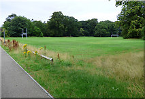 NS3421 : Ayr Academy sports field by Thomas Nugent