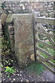 SD7052 : Stone gatepost by Bob Harvey