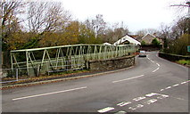 ST1494 : Footbridge extending from Ystrad Mynach to Hengoed by Jaggery