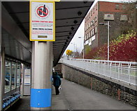ST1599 : Alcohol Control Area notice, Bargoed bus station by Jaggery