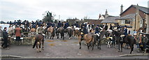 ST8080 : Beaufort Hunt Meet, Fox & Hounds, Acton Turville, Gloucestershire 2018 by Ray Bird