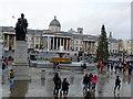 TQ2980 : Charles Napier monument, Trafalgar Square by Bill Harrison