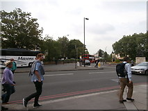 TQ2782 : The St John's Wood roundabout by Virginia Knight
