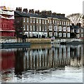 SE6051 : Victorian riverside terraces, York by Alan Murray-Rust