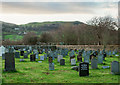 NY1526 : Graveyard at St Cuthbert's Church by Trevor Littlewood