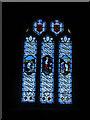 SX0141 : St Just, Gorran Haven - west window by Stephen Craven