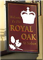 ST1195 : Royal Oak at Nelson name sign by Jaggery