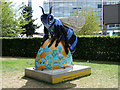 SJ8097 : Bee in the City #91, Blue Bee-ter by David Dixon