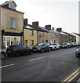 ST1195 : Car-lined High Street, Nelson by Jaggery