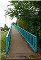 SP2807 : Ramp from Bovingdon Road to footbridge over Brize Norton Road, Carterton, Oxon by P L Chadwick
