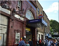 TQ2981 : Goodge Street Underground Station by N Chadwick