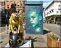 SJ8498 : Art in Stevenson Square by Gerald England