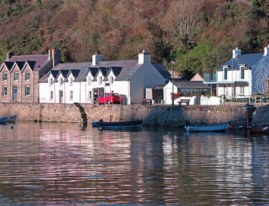 SM9637 : Lower Fishguard (Cwm) quay by Dylan Moore