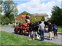 SD9062 : Thwaites Brewery dray and shire horses... by Bill Harrison