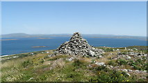 V9722 : Cape Clear Island - cairn at highest point of island by Colin Park