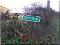 TM4698 : Suffolk County Name sign by Adrian Cable