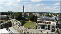 N8056 : On top of Keep at Trim Castle - view S towards St Patrick's RC Church by Colin Park
