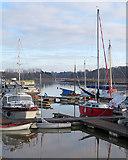 TM2850 : Melton: boats on the Deben by John Sutton