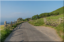 SS7049 : Lane to the Valley of Rocks by Ian Capper