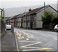 SS9695 : Zigzag yellow markings on the B4223, Ton Pentre by Jaggery