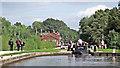 SK1313 : Middle Lock at Fradley Junction in Staffordshire by Roger  Kidd