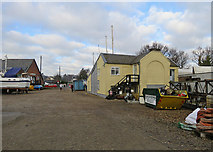 TM2850 : Melton: boatyard and Dock Lane Crossing by John Sutton