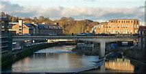 NZ2742 : River Wear flowing beneath Milburngate Bridge by Trevor Littlewood