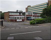 SS9079 : Bridgend Driving Test Centre entrance by Jaggery