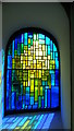 SJ9888 : Mellor - St Thomas' Church, modern stained glass window by Colin Park