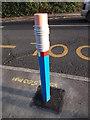 SP3384 : Bollard detail, Wheelwright Lane Primary School by Niki Walton
