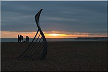 TQ8109 : Pelham Beach at sunset by Oast House Archive