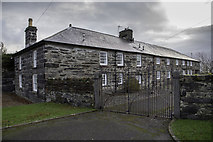 SH5638 : Harbour yard walls and gates to Greaves & Oakleys Wharf by Arthur C Harris