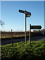 TM4897 : Signpost & Roadsign on Market Lane by Adrian Cable