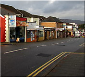 ST1586 : West side of Cardiff Road, Caerphilly by Jaggery
