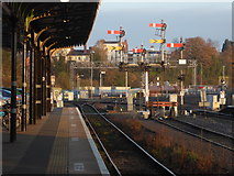 SO8555 : Worcester Shrub Hill Station - mechanical signalling by Chris Allen