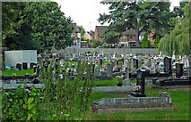 SK0418 : Cemetery in Rugeley, Staffordshire by Roger  Kidd