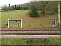 SJ9459 : Signs at Hunthouse Wood station by Stephen Craven