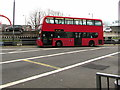 ST3188 : Red double-decker bus in Market Square bus station, Newport by Jaggery
