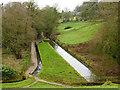 SJ9558 : Rudyard Lake - downstream feeder channel by Stephen Craven