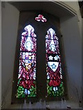 TQ0165 : Holy Trinity, Lyne: stained glas window (d) by Basher Eyre