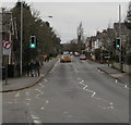 ST3390 : Pelican crossing, Lodge Road, Caerleon by Jaggery