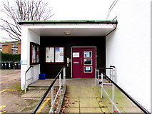 ST3390 : Entrance to Caerleon Town Hall by Jaggery