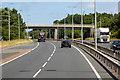 SH6673 : North Wales Expressway, Bridge at Junction 14 by David Dixon
