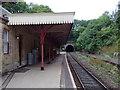 SK3057 : Cromford Railway Station - active platform by Colin Cheesman