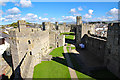SH4762 : The Lower Ward Of Caernarfon Castle by Jeff Buck