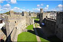 SH4762 : The Lower Ward Of Caernarfon Castle by Jeff Buck