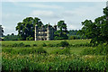 SJ9822 : Fields and Gatehouse near Tixall in Staffordshire by Roger  Kidd