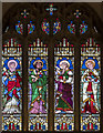 TV5999 : St Mary, Eastbourne - Stained glass window by John Salmon